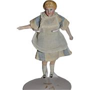 Antique Doll Miniature Maid Bisque Doll Lady Dollhouse