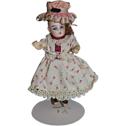 Antique Doll Bisque Miniature Glass Eyes Dollhouse Jointed
