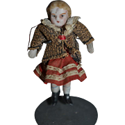 Antique Doll All Bisque Miniature Dollhouse Original Clothing Jointed