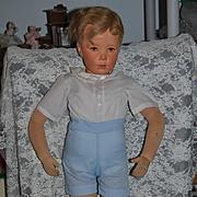"Antique Doll Large Kathe Kruse Mannequin Doll 31"" Tall Big Boy"