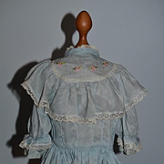 Old Doll Dress Drop Waist Sweet w/ Lace Detail