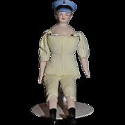 Vintage Doll Miniature Man Dollhouse Molded Hat Mustache