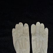 Old Doll  Child's Fownes Make Soft Leather Gloves