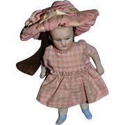 Antique Doll Fancy All Bisque French Loop Jointed Dollhouse