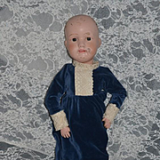 Antique Doll Wood Schoenhut Carved Jointed Dolly Face Tall