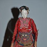 Old Doll Oriental Opera Doll Fancy Clothing Head Piece