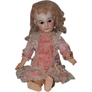 Antique Doll Petite Size Sonneberg Bisque W/ Signed Jumeau Body and Straight Wrist Dressed