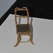 Old Doll Miniature Beaded Chair Dollhouse Unusal