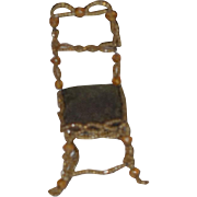 Old Doll Miniature Beaded Chair Dollhouse Unusal