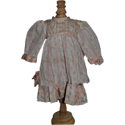 Antique Doll Dress W/ Great Detail For French Doll