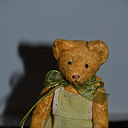 Old Teddy Bear Doll Friend Miniature Jointed Dressed SWEET!