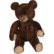 Vintage Big Brown Bear Jointed Teddy Bear