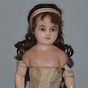 Antique Doll Wax Gorgeous Glass Eyes English
