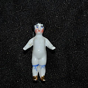Antique Doll Miniature China Head Frozen Charlotte