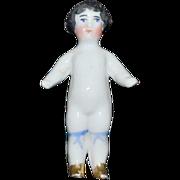 Antique Doll Miniature China Head Frozen Charlotte