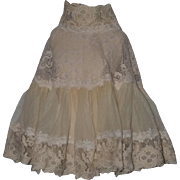 Wonderful Doll Lace Skirt Undergarment French Suzette GORGEOUS For French Doll