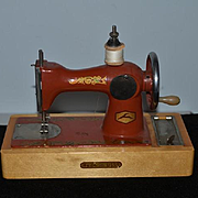 Old Doll Child's Miniature Sewing Machine Cast Iron USSR Miniature