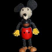 Wonderful Doll Wood Disney Schylling Mickey Mouse Figure