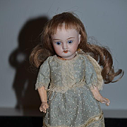 Antique Doll Sonneberg Petite Size 0 Sweet Doll French Wig