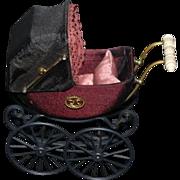 Vintage Doll Miniature Artist Heidi Ott Doll Pram Stroller Carriage