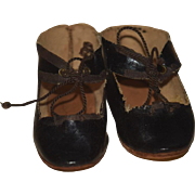 Antique Leather Doll Shoes Sweet For French Doll