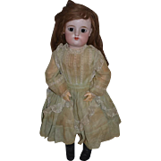 """Antique Doll French Bisque FG Francios Gaultier Closed Mouth W/ Paper Label 25"""" Tall"""