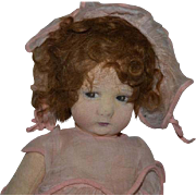 Old Doll Lenci Cloth Doll Sweet Jointed Sweetest Face 300 Series