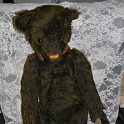 "HUGE Vintage Artist Teddy Bear Mohair JOINTED Leather Collar ""Hambone""  31"" Tall Leather Tag GOODnews Bears # 6 of 90"