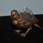 Old Miniature Figural Bird Metal Pincushion Pin Cushion Wonderful