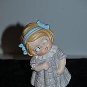 Vintage Doll Figurine Googly Schafer & Vater Adorable Little Girl Character
