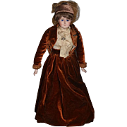Antique Doll Bisque Kestner Gibson Girl Dressed Beautiful