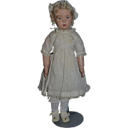 Antique Doll Old Carved Wood Schoenhut Doll Unusual Expression Sweet Doll Clothing
