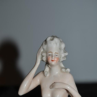 Old Doll Half Doll China Head Nude Risque Fancy