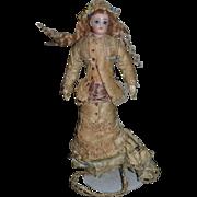 Antique Doll French Fashion Jumeau Great Kid Fashion Body W/ Original Factory Dress
