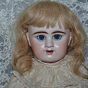 "Antique Doll French Bisque BeBe Denamur W/ Old Gesland Boutique Label BIG GIRL Gorgeous 29"" Tall"