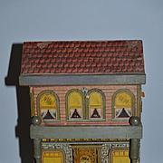 Antique Doll Miniature Dollhouse Wood Litho Bliss Dollhouse