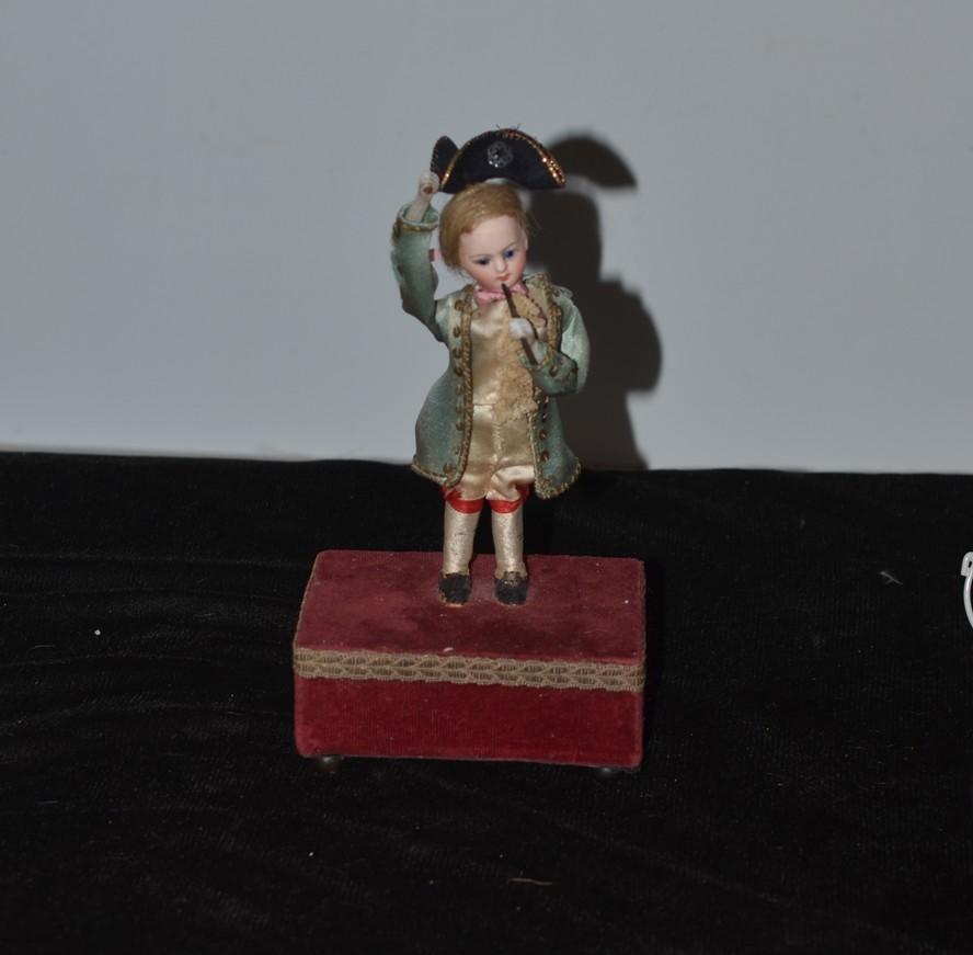 Marquis Miniatures: Antique Doll French Bisque Miniature Automaton Marquis