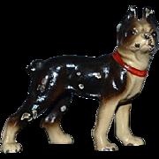 Old Dog Miniature Dollhouse Cast Iron Bull Dog Hubley