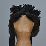 Wonderful Hat Bonnet W/ Flowers For Bisque Doll Sweet!