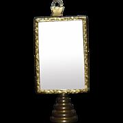 Wonderful Vintage Doll Mirror Miniature Dollhouse Vanity Mirror on Stand
