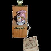 Miniature Artist Ann Fuller Designs England Hush a Bye Baby Wood Jack in the Box Dollhouse