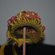 Wonderful Sweet Woven Straw Hat Bonnet For Doll Fancy