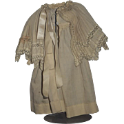 Old Doll Fancy Cape Jacket Pleated Shawl For Bisque Doll Adorable