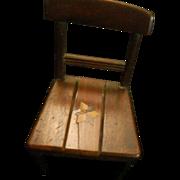 Antique Wood Inlaid Doll Chair Miniature Wonderful