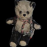 Old Teddy Bear Mohair Panda Bear Sweet Cabinet Size Doll Size