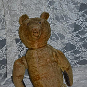 Antique Teddy Bear Doll Friend Mohair Large Jointed Button Eyes