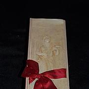 Old Wonderful Candy Box Lady W/ Mandolin Long Doll Box