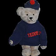 Vintage Teddy Bear Jointed Mohair Steiff Tagged