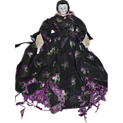 Antique Doll China Head Kestner Alice Doll Gorgeous w/ Wonderful Clothes W/ Fancy Snood