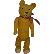 Old Teddy Bear Jointed W/ Crier Button Eyes Mohair